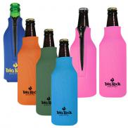 promotional zipper bottle coolie - full color