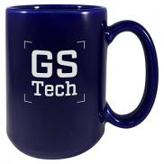 promotional 15 oz. usa ceramic mugs - cobalt