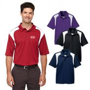 promotional extreme mens eperformance™ colorblock textured polo