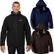 promotional north end mens glacier insulated three-layer jacket