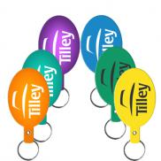 promotional flexible key tags (oval)