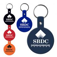 promotional flexible key tags (circle)