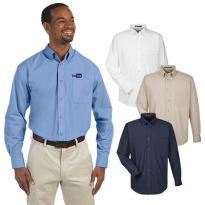 29688 - Harriton Men's 3.1 oz. Essential Poplin Shirt