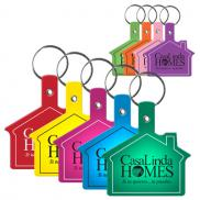 promotional flexible key tags (house)