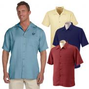 promotional harriton mens bahama cord camp shirt