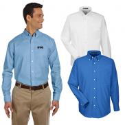 promotional harriton mens long-sleeve oxford shirt