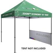 promotional half wall kit for 10 popup tent
