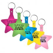 promotional flexible key tags (star)
