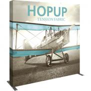 promotional hopup 8ft straight full height fabric display