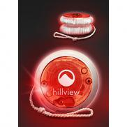 promotional led lighted yoyo - red