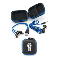 29959 - Earbuds/Charging Cable Gift Set - Blue