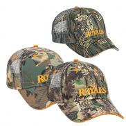 promotional camouflage six panel low profile style mesh back cap