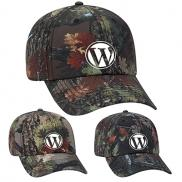 promotional camouflage polyester canvas six panel style cap