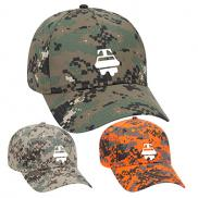 promotional digital camouflage cotton blend twill cap