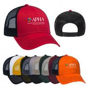 promotional contrast stitching six panel mesh back cap