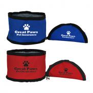promotional portable pet food bowl