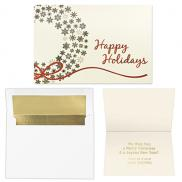 promotional gold snowflakes wreath 5 x 7 premium card