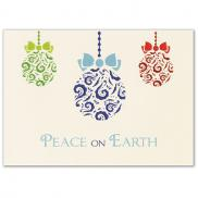 promotional embossed ornaments 5 x 7 premium card