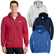 promotional port & company® - essential fleece full-zip hooded sweatshirt