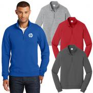 promotional port & company® fan favorite™ fleece 1/4-zip pullover sweatshirt