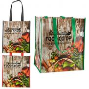 promotional laminated grocery tote