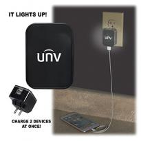 30768 - Light-Up-Your-Logo Duo USB Wall Charger