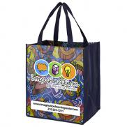 "promotional 13"" x 15"" glossy lamination grocery shopping tote bags"