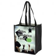 "promotional 8"" x 10"" glossy lamination grocery shopping tote bags"