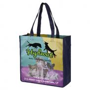 "promotional 13"" x 13"" glossy lamination grocery shopping tote bags"