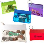 promotional zippered id pouch/wallet