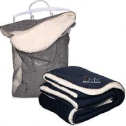 promotional thick needle sherpa blanket