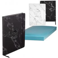 30868 - LEEMAN™ Large Bound Softcover Marble Journal