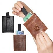 promotional sorrento™ rfid wallet with pull tab