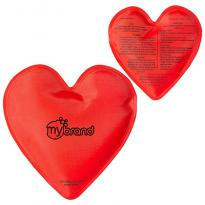 30912 - Heart Nylon Covered Gel Hot/Cold Pack