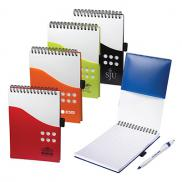 promotional two-tone jotter with contour pen