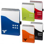promotional two-tone dot jotter