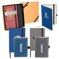30963 - Strand™ Snow Canvas Notebook and Charger Gift Set