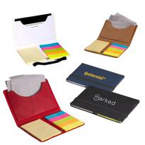 30964 - Business Card Sticky Pack with Microfiber Cleaning Cloth