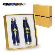 promotional 17 oz duo vacuum bottle gift set