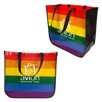 30987 - Large Rainbow Laminated Tote