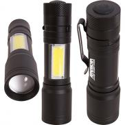 promotional cob tactical aluminum flashlight