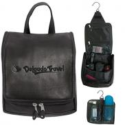 promotional bryercliff leather hanging travel kit