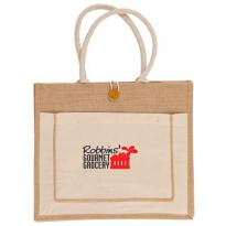 31080 - Jute Tote Bag - Full Color