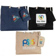 promotional full color jute resort tote