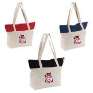 promotional everyday canvas tote - full color