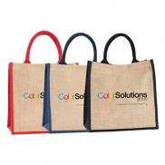 promotional jute shopper - full color