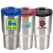 promotional 20 oz. color splash stainless steel economy tumbler