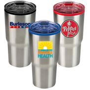 promotional 30 oz. color splash stainless steel economy tumbler