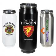 promotional 17 oz. vacuum can with straw