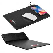 promotional wireless charging mousepad with phone stand